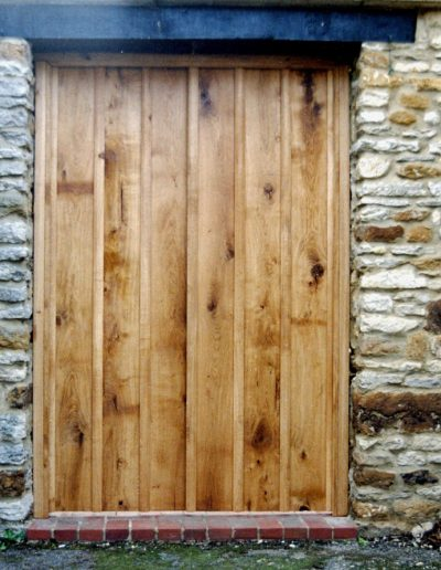 Exterior door in oak