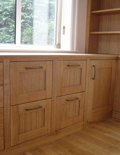 Study drawers in oak