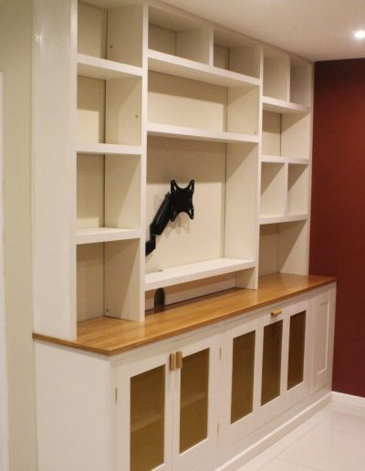 Wall unit with oak