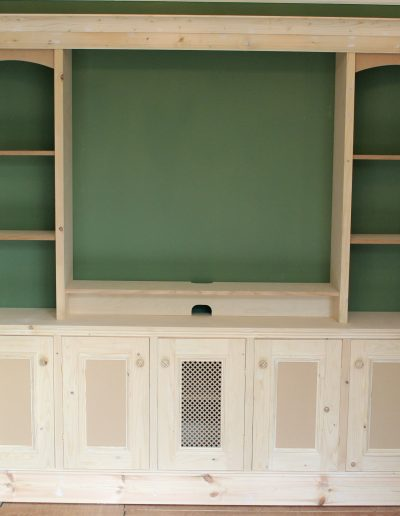 Pre-painted wall unit