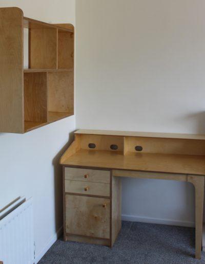 desk & shelves