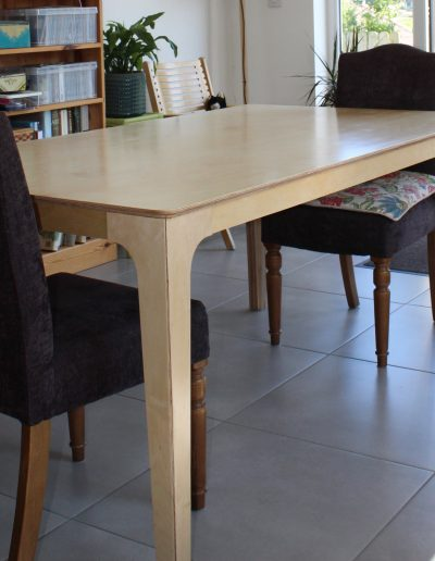 birch ply dining table